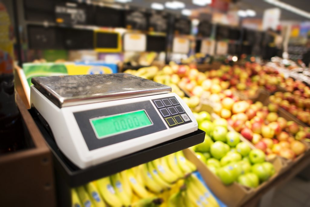 Retail Store Fruits Weighing